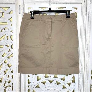 Loft Beige Khaki Pencil Skirt NWT